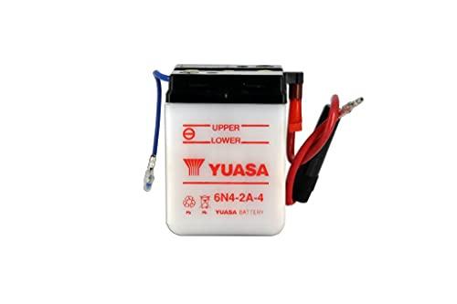 Batería para moto Yuasa 6N4-2A-4 Dry – Se entrega seca – 6 V 4 Ah – Dimensiones: 71 x 71 x 96 mm compatible con Yamaha RS100, DX 100 1979-1981