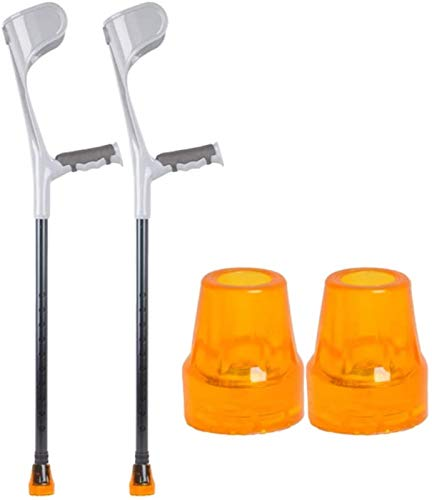 Walking Cane, Comfortable Adjustable Crutches,Forearm Crutches with Adjustable Support (1 Pair), Ergonomic Comfortable Wrist Handle, Heavy Duty for Standard and Tall Adults, Lightweight Aluminum Best