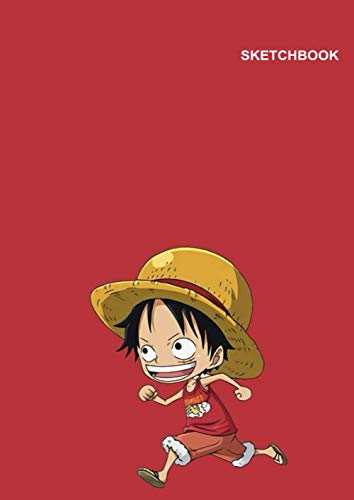 Zoro One Piece Sketchbook: Blank Unlined Paper, 110 Pages, A4, 8.27 inch x 11.69 inch, Luffy Cartoon Image Notebook Cover.