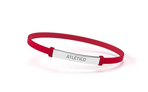 Atlético de Madrid Modisches Armband für Damen und Kinder, Armband aus Silikon und Edelstahl, offizielles Produkt