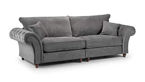 Honeypot - Sofa - Windsor - 3 Seater - 2 Seater - Armchair - Corner Sofa - Footstool - Grey - Stone - Fabric (4 Seater Sofa, Grey)
