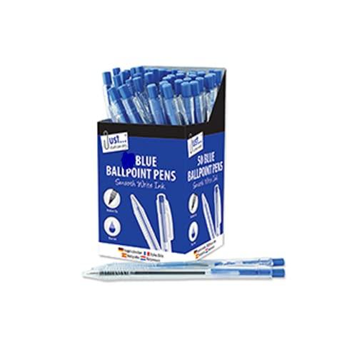 The Home Fusion Company Smooth Write - Bolígrafos de tinta azul retráctiles para varias cantidades, trabajo, oficina, escuela