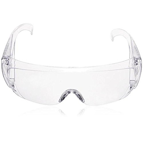 Fayeille 2 stks veiligheidsbril Stofbeschermende oogbril, Multi-functie Gesloten Anti-Fog Antisand Winddicht Stofbestendig Transparant Outdoor Sport