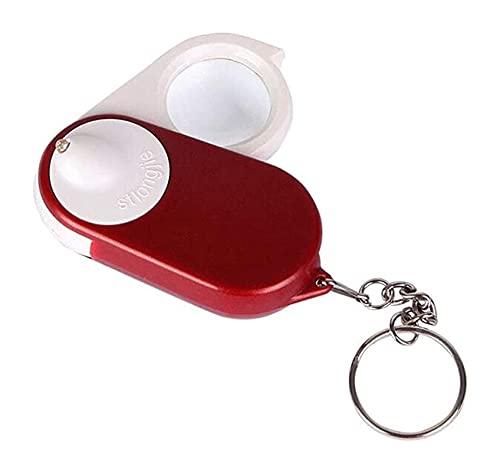 Lupa Lupa Plegable Portátil Mini Lupa Espejo Llavero de Vidrio 10x con...