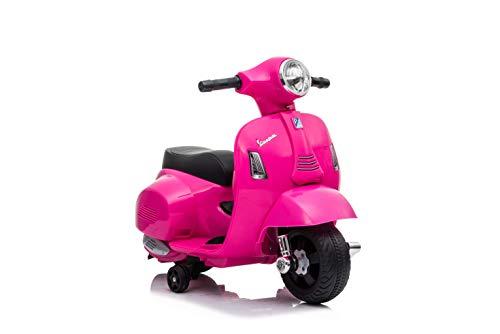 Babycar Moto Elettrica per Bambini Piaggio Mini Vespa ( Rosa ) 6 Volt con luci e Suoni Ufficiale con Licenza