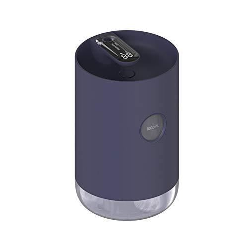 Ultrasone Cool Mist-luchtbevochtigers, 1L - Waterloze Automatische Uitschakeling, 30 dB Stille Luchtbevochtiger Usb-voeding Oplaadbare Met Nachtlichtmodus Voor Thuis, Slaapkamer, Kantoor, Auto,Blue