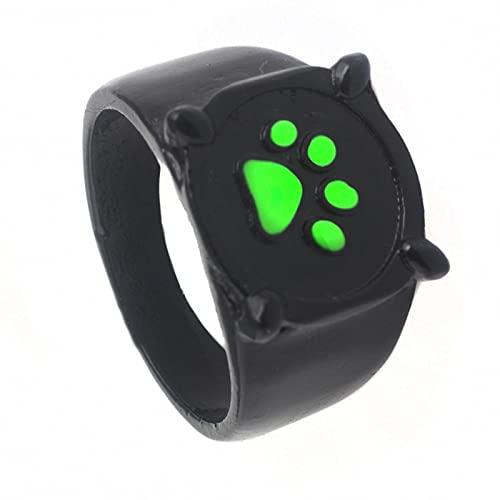 SPACELQ Negro Cat Noir Anillo Anillo Anillo Cosplay Disfraz para Mujer Hombre Niños Anillos De Halloween Joyas De Moda Regalos Cat Noir Anillos