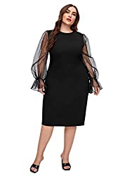 Body-con fitted dress with sheer and crystal sleeves