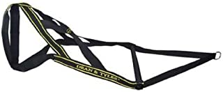 Dean & Tyler Nylon Weight Pulling Harness, Fits Heads Up to 22-Inch Diameter, Small, Black/Yellow