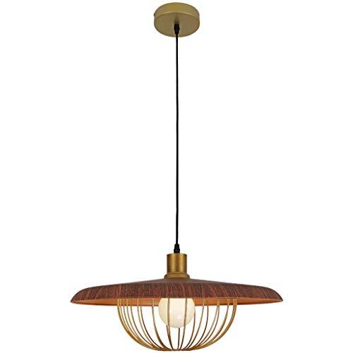 N / A La iluminación de la habitación lámpara de la lámpara LED pequeño apartamento Que Viven en Solo Vaso Exquisita Decorativo Forjado araña de Hierro (Color, Nogal Tamaño, 45 cm),WOT,45 cm
