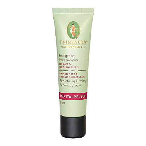 PRIMAVERA Revitalpflege Festigende Intensivcreme Rose Granatapfel 30 ml - Naturkosmetik - nährend und straffend für reife Haut - vegan -