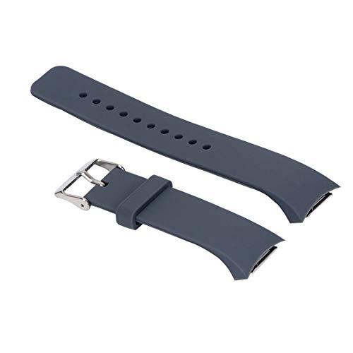 Correa de silicona de repuesto Yefod para Samsung Gear S2 SM-R720/SM-R730; no es compatible con Gear S2 Classic/Gear Fit 2., color gris