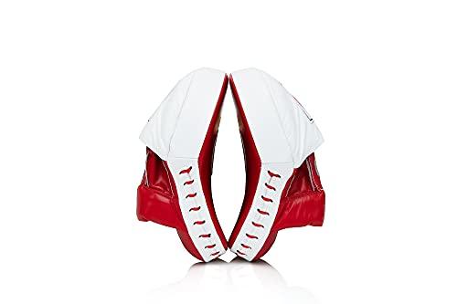 Fairtex FMV9 Contoured Focus Punch Pad Mitts (Red/White)