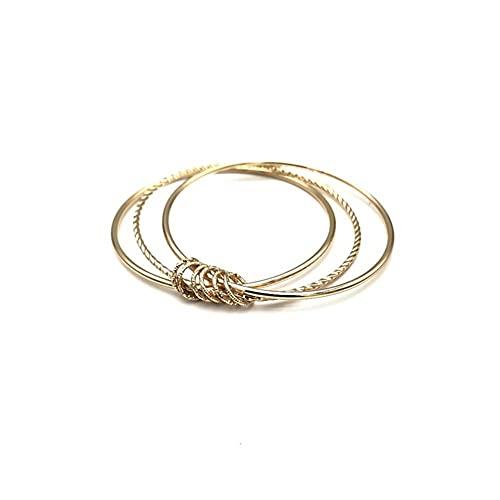 Hinleise Pulsera de múltiples capas para mujer, elegante conjunto de 3 piezas, pulsera de joyería regalo para mujeres