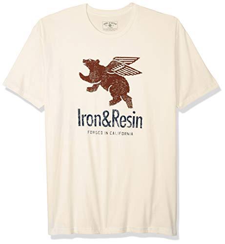 Iron & Resin Herren Bear Motor Oil Tee athletische T-Shirts, Natur, XX-Large