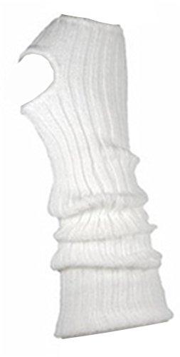 AVIDESO Stulpen Damen/Mädchen/Kinder - Ballettstulpen + Fersenloch - Tanzstulpen Beinstulpen Armstulpen Strick Weich Legwarmer (Kinder (ca. 36cm lang), weiß)
