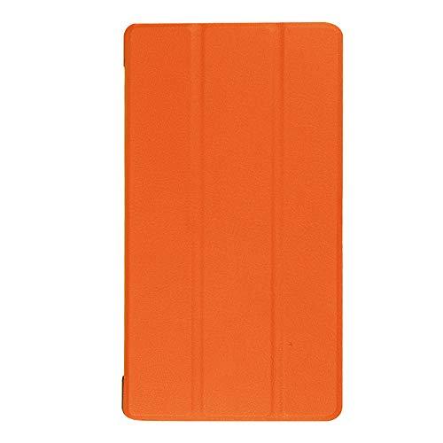 Adecuado para Lenovo Tab 7 Funda para Tablet PC Essential TB-7304F Soporte de Plegado Triple Funda de Cuero de 7 Pulgadas-Naranja_Lenovo / Lenovo