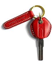 Fullibars CNC aluminio de Carcasa de llave llavero para motocicleta, para Ducati Monster 795/695/696/796/959 Panigale / 1199 Panigale S / R Diavel, Regalos de cumpleaños para hombres y mujeres