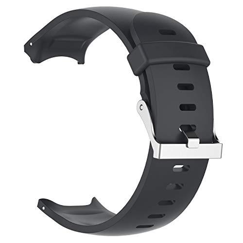 CUHAWUDBA Silikon Uhren Armband Armband für Approach S3 GPS Intelligente Uhr Zubeh?R Uhren Armband Armband Schwarz