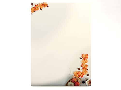 Briefpapier | Duft des Herbstes | 20 Blatt Herbstliches Motivpapier DIN A4