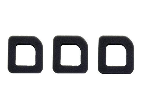 N A - Juego de 3 filtros de aire de espuma para cortacésped McCulloch Tivoli 45 60 HC45 HC60 HC70 TH600 TH700
