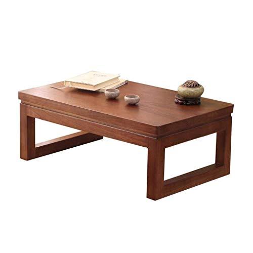 JIAHE115 Draagbare kleine salontafel woonkamermeubels tafels salontafel ramen en tafels van massief hout één paar tafels in Japanse stijl raam balkon balkon tafel tafeltjes