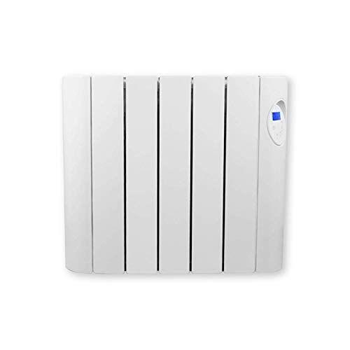 FUTURA 900W Oil Filled Electric Radiator Panel Heater 24/7 Day Timer Lot 20 Wall Mounted Low Energy Retention Electric Heater for home Slimline Efficient Convector Heater Digital thermostat (900W)