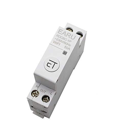 1p Din Rail Interruptor De Circuito Wifi Interruptor De Temporizador Inteligente Relé Control Remoto Por La AplicacióN Ewelink Hogar Inteligente Compatible Con Alexa Google-63a
