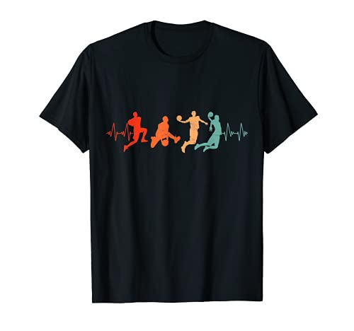 Canasta retro de baloncesto para jugadores Camiseta