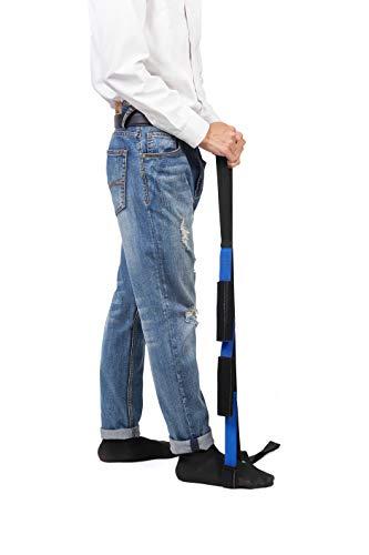 59 Zoll Beinheber Fünf Schlaufen Multifunktions-Mobilitätshilfegerät mit gepolsterten Handgriffen, Langlebiger Mobilitätsbewegungsriemen für Benutzer mit schwachen Beinen