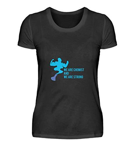 Chemie Lustiger frase – Chemiker profesor, escuela, ciencia, regalo, diseño de cumpleaños – Camiseta de mujer Negro  XXL