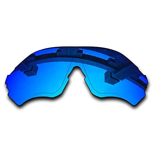 SYEMAX Lentes de repuesto para espejo polarizado compatibles con Oakley EVZero Range (OO9327) Sunglass - Múltiples opciones, (Azul hielo no polarizado.), Talla única