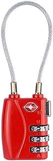 JinEamy In lega di zinco 3 cifre password TSA blocco da viaggio bagagli lucchetto (Color : Red)