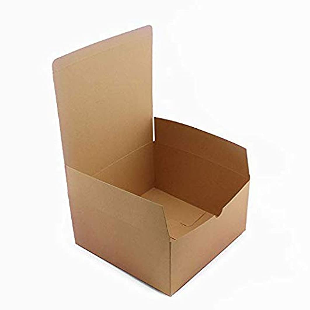 Tytroy Pack of 10 Brown Cardboard Kraft Boxes Brown Paper to Go Boxes with Lids