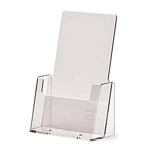Prospekthalter DIN lang 1/3 A4 Aufsteller Prospektständer Flyerhalter Flyerständer Acryl glasklar Prospekthalter DIN lang
