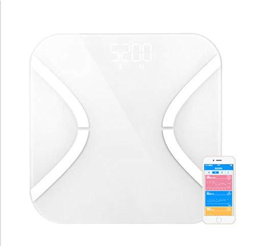 Qaqv Yolanda Smart Waage, Körperfettwaage, digitale Waage, für Badezimmer, BMI, Boden, Haushalt, elektronische Bluetooth-Waage