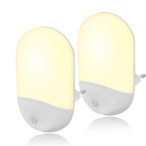 Fenvella Luce Notturna LED, Lampada Notturna Bianco Caldo con Sensore Illuminazione Automatiche per Camerette, Soggiorno, Bagno, Corridoio, Vano Scala, Cucina.(2 Pezzi)