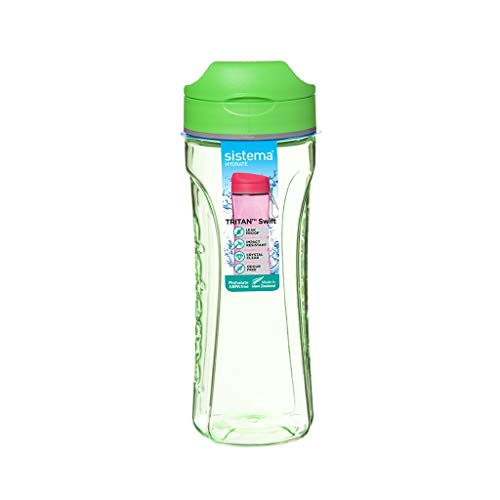 Sports Cup Portable Fitness Plastic Kettle Large Capacity Outdoor Casual Cup 600ml Sports Fitness Exercise Cup (Color : Green, Size : 600ml)