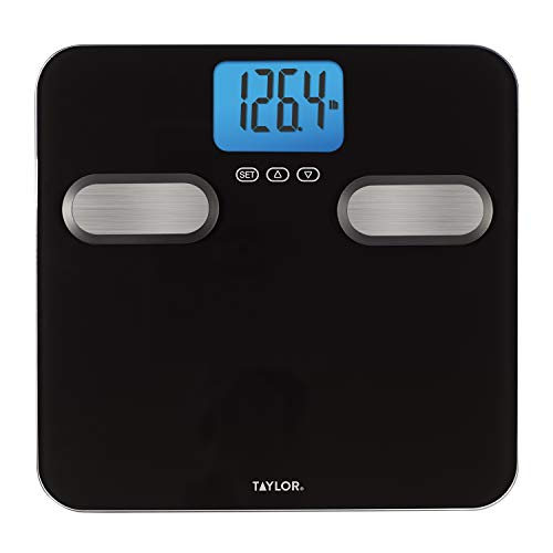 Taylor Precision Products Body Composition 400lb Bathroom Scale Black with Stainless Steel Accents