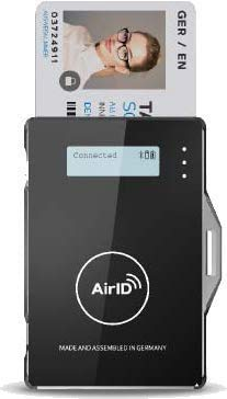 Certgate AirID 2 Bluetooth Contact Smart Card Reader (CAC Enabled for Mac and Windows Only - Not iOS/Android)
