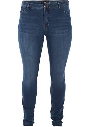 Zizzi Große Größen Damen Slim Nille Jeans mit hoher Taille Gr 42-56