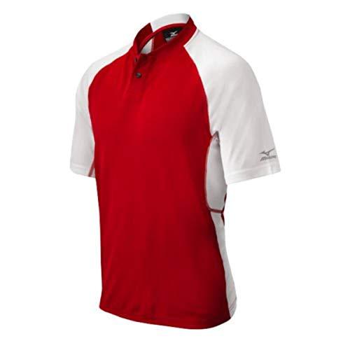 Mizuno Youth Pro 2Tasten Jersey, rot/weiß