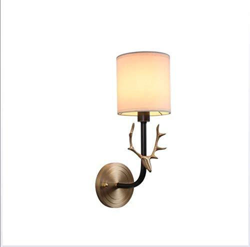 OOFAY LIGHT Rame Cervo Corno Lampada da Parete navata Luce Parete Luce da Salotto Camera da Letto Lampada da Notte Specchio