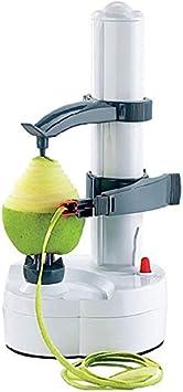 ARSUK Peladora eléctrica multifunción Peladora de Manzana giratoria automática Peladora de Patatas Máquina de Corte de Verduras Herramienta de pelado de Cocina de Acero Inoxidable