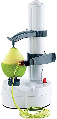 ARSUK Multifunzione Elettrico Pelapatate Automatico Rotante Mela Pelapatate Verdura Fresa Acciaio Inossidabile Cucina Macchina Peeling Attrezzo (Bianco)