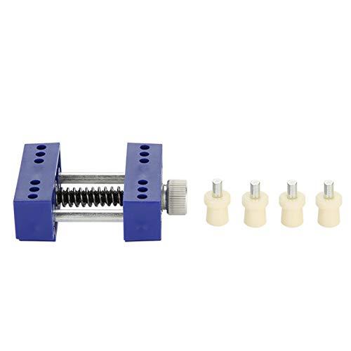 Reparación de relojes, herramienta de tornillo de banco de metal y plástico, herramienta ligera, práctica y perfecta para joyeros, adecuada para simplificar el trabajo de(Blue)