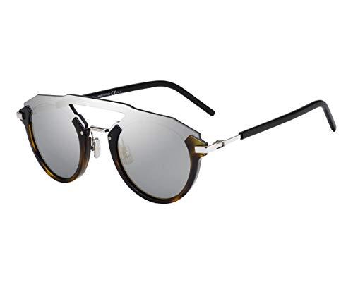 Dior Homme Sonnenbrillen (DIORFUTURISTIC 08683) havana dunkel - palladium-silber - blau-grau - silber verspiegelt
