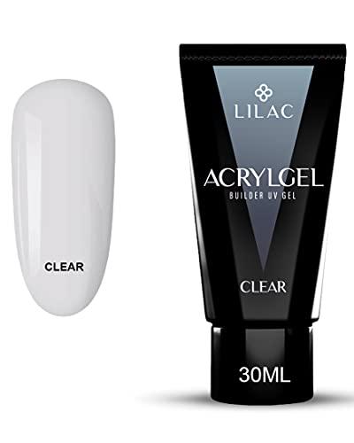 Lilac - Gel Unghie Ricostruzione, Estensione Unghie Gel, Polygel Unghie Kit, Acrygel per Costruzioni a Lunga Durata. 30 ml