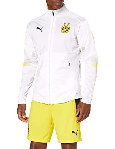 PUMA Herren BVB Stadium Jacket Trainingsjacke, White-Third, L
