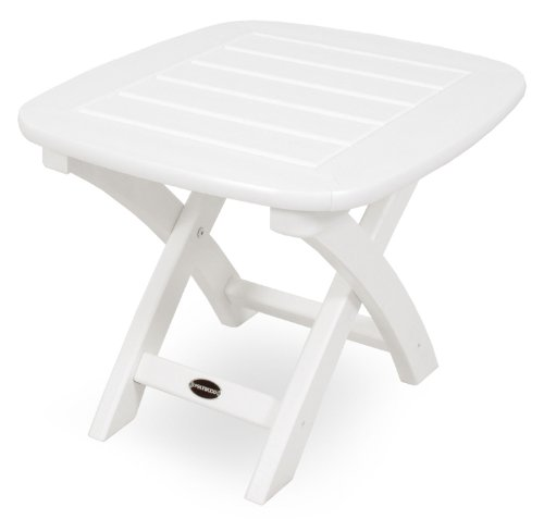"POLYWOOD NSTWH Nautical 21"" x 18"" Side Table, White"